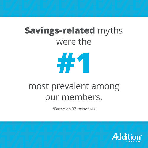 #1 Savings Related Myths