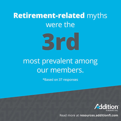 #3 Retirement Related Myths