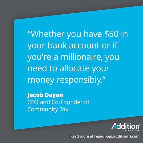 Jacob Dayan Money Allocation Quote