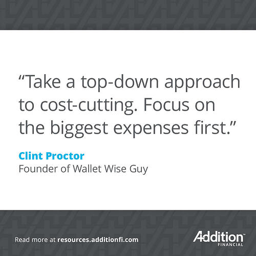 Clint Proctor Cost Cutting Quote